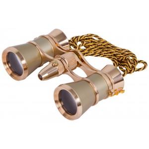 Бинокль Levenhuk Broadway 325F с подсветкой и цепочкой, золотой